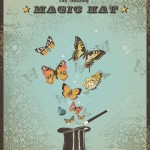 5785227-magic-poster-with-hat-wand-and-butterflies-Stock-Vector-circus-vintage-magic